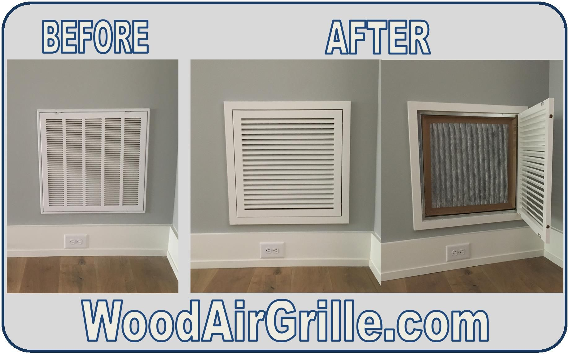 Upgrading to a Wood Return Air Filter Grille from