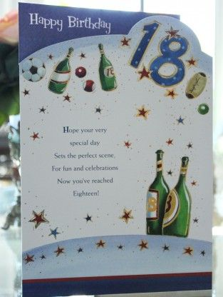 Do You Know Someone Is That Magical Age Of 18 Years Old This 18th Birthday Cards For Men Offers Brilliant Value And Quality