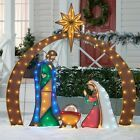 Christmas Lights Metal Nativity Display Scene Set Outdoor LightUp LED Decor New Not just solemnly even smart is going to be there for Christmas Since also the mild chain...