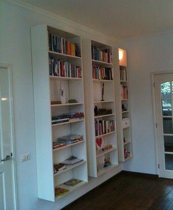 Float Ikea Bookcases For Maximum Shelf Space With Zero Footprint