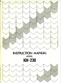 Link To Kh 230 Chunky Knitting Machine Manual Uploaded By