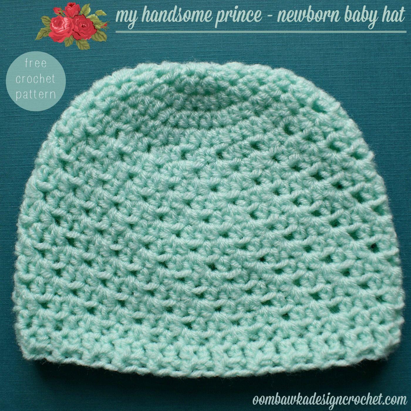 My Handsome Prince Newborn Baby Hat Pattern Crafts Crochet