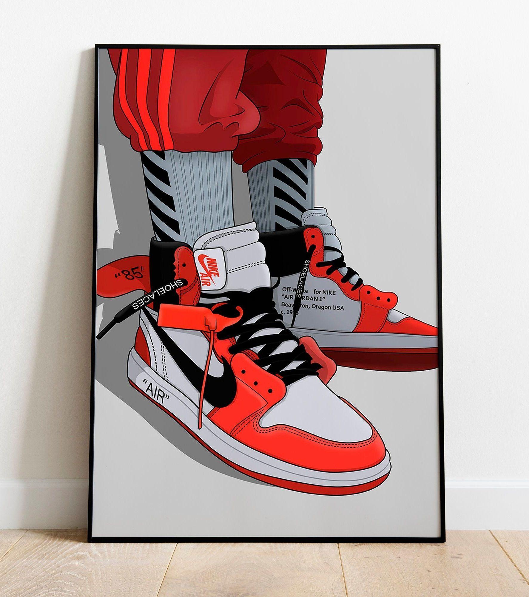 Jordan 1, Off White Wall Art, Hypebeast Poster | Sneaker posters ...