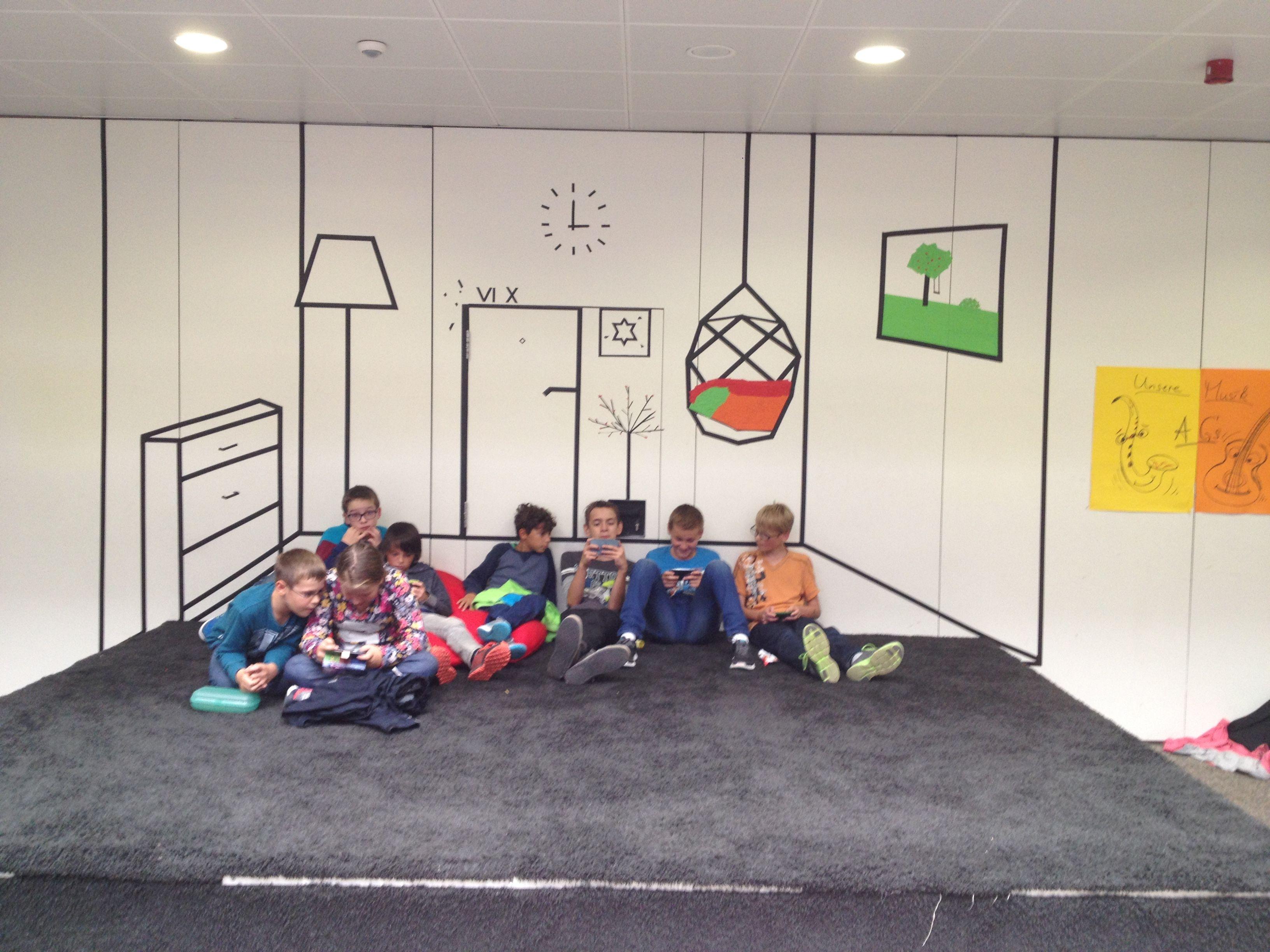Tape art gemeinschaftsschule graf soden friedrichshafen 9 for Raumgestaltung schule