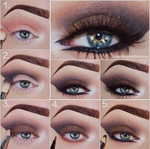 Brown  purple smokey eye