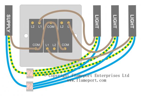 3 gang 2 way light switch  light switch wiring light