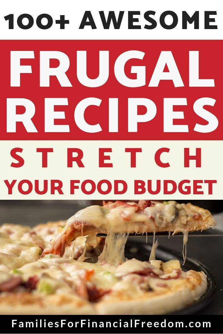 100+ Cheap Meals for When Money Is Tight 100+ Frugal Recipes--Find more than 100 ideas for cheap meals for a tight budget. Find ideas for cheap breakfasts, cheap lunches, and cheap dinner ideas. These cheap recipes are perfect for preparing meals on a budget! Find 100+ meals under $5!