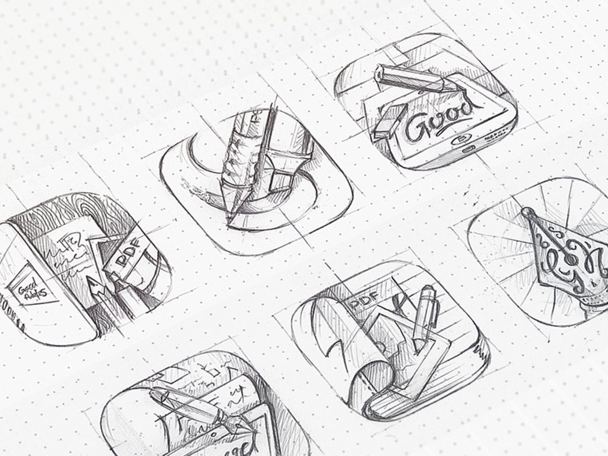 14 Sketches Of Icons Before They Are Computerized With Images