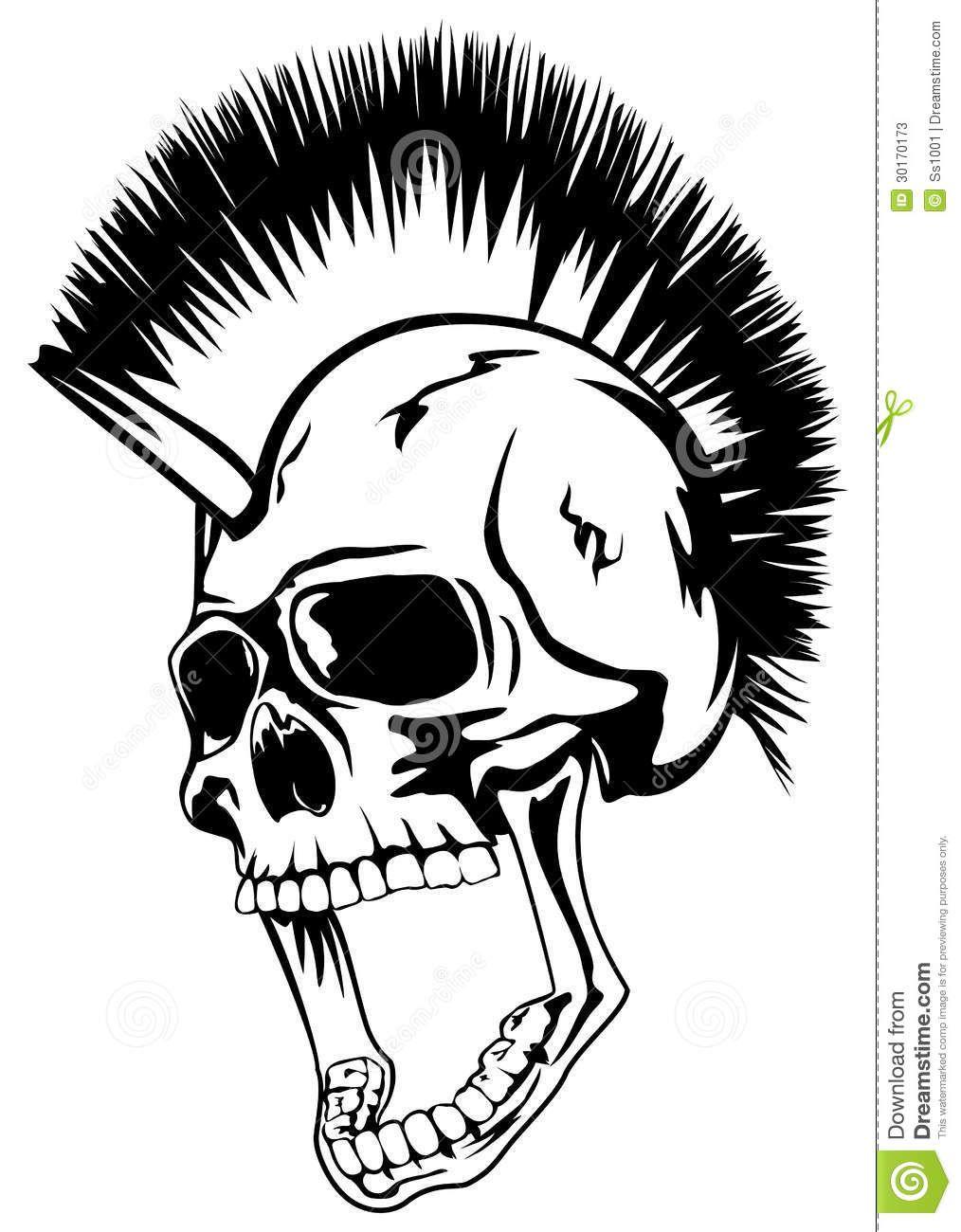Punk Rock Skull Head Punk Skull Stock Photos Image