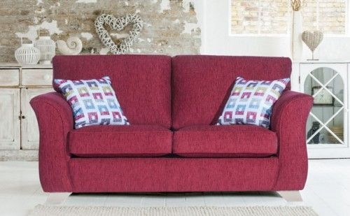 Strange Alstons Valencia 3 Seater Sofa In Red Large Sofas From Creativecarmelina Interior Chair Design Creativecarmelinacom