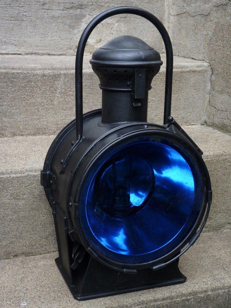Super Lanterne d'avant de locomotive à vapeur. Le verre bleuté combiné KJ19