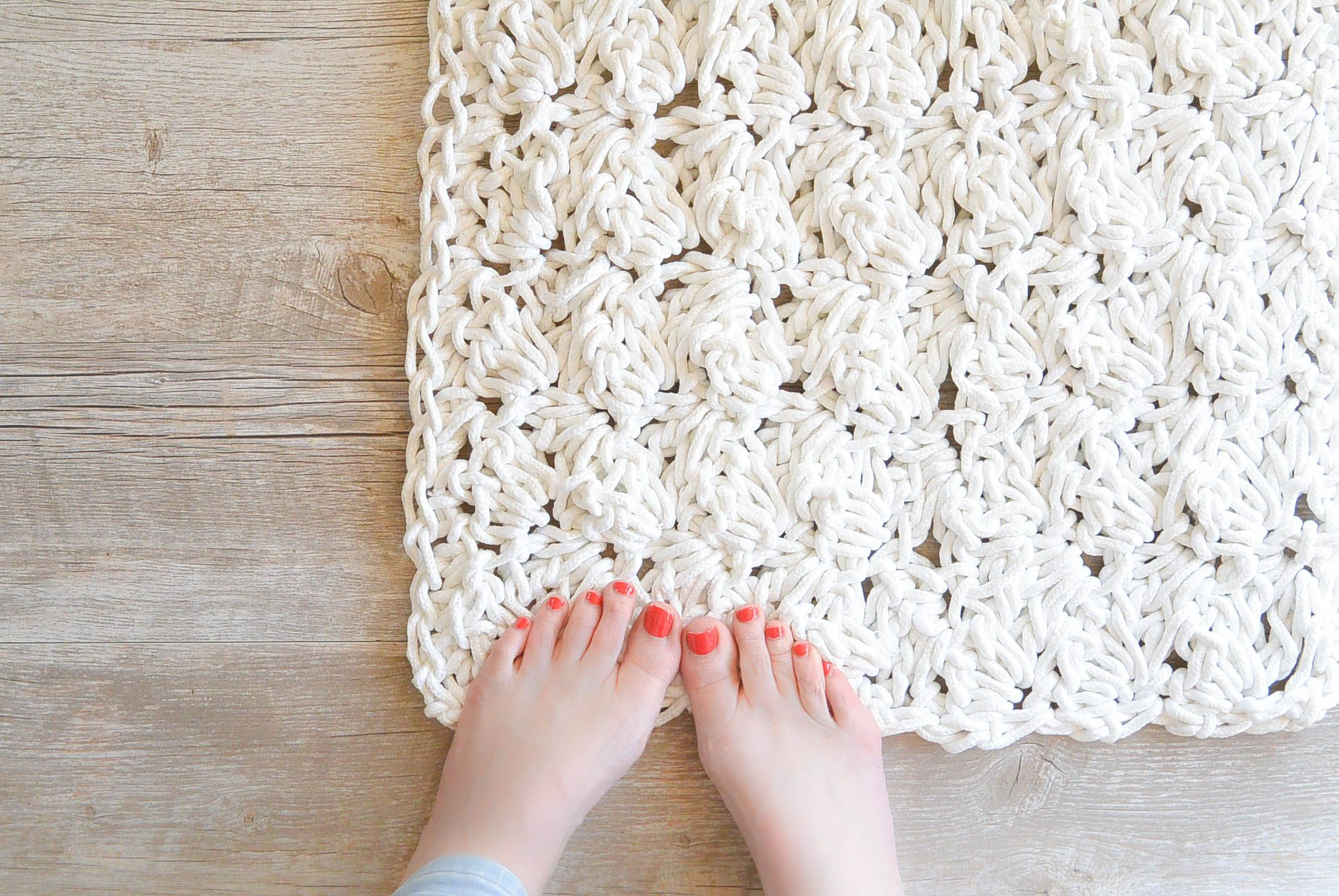 How to Crochet A Rug with Rope   all others   Pinterest   Puntadas y ...