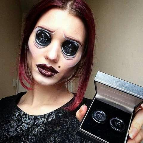 The Other Mother From Coraline Halloween Makeup Horror Makeup Halloween Costumes Makeup
