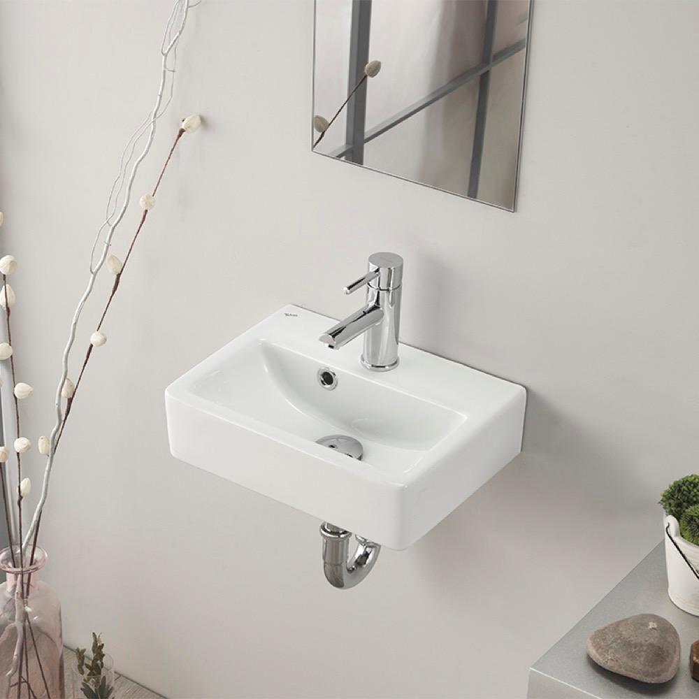 Nameeks Mini Wall Mounted Bathroom Sink In White Cerastyle 001400