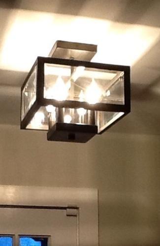 Hampton Bay 4Light Oxide Brass SemiFlushmount Light with