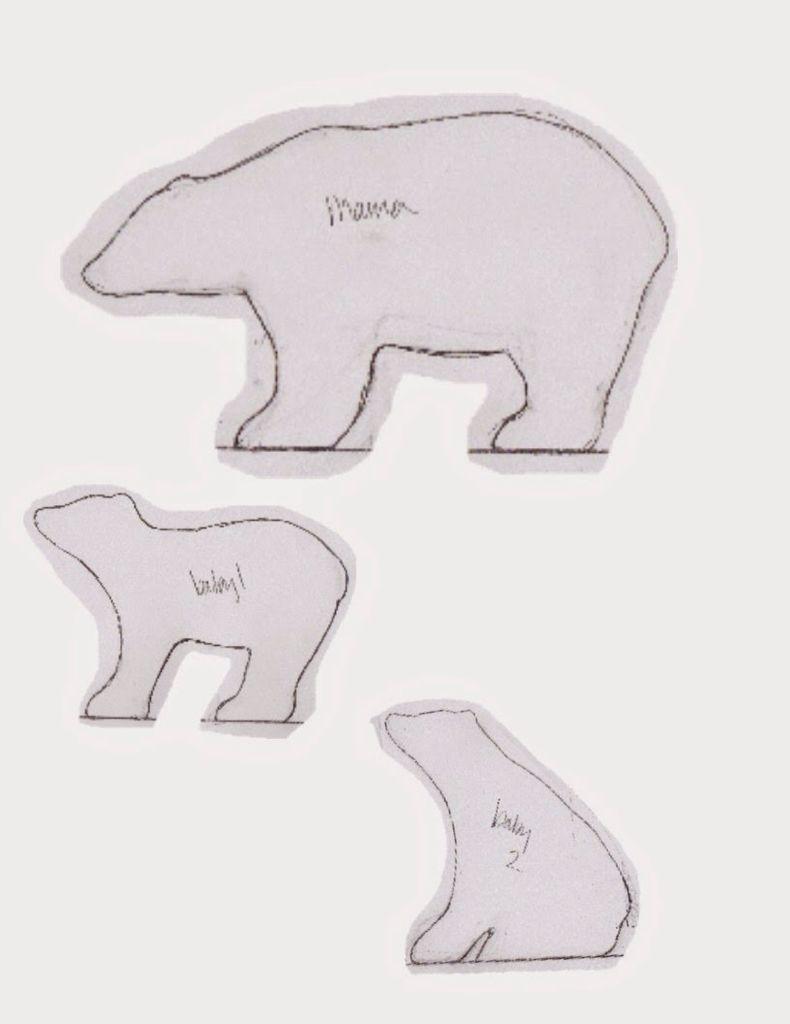 Polar Bear Template Bear Crafts Bear Template Polar Bear Craft