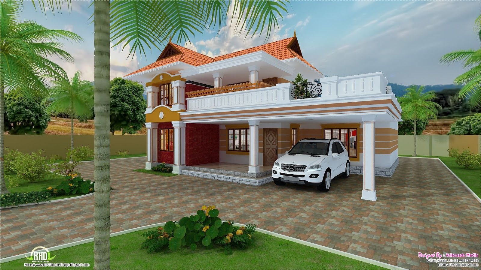 Bedroom Sq Ft Kerala Style House Kerala House Design Idea Sq Ft House  Provision Stair Future Expansion Kerala | Home Design | Pinterest | Kerala,  ...