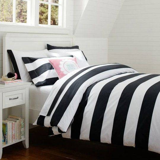 Comfy Contrast 10 Bold And Daring Black White Duvets White Bed Set Striped Duvet Striped Duvet Covers