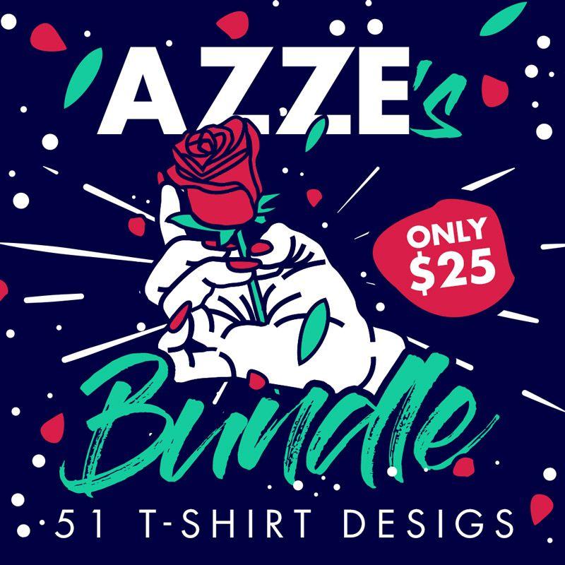 7041c7acbf3 Azze s Bundle - 51 T-shirt Designs - Only  25