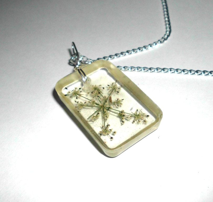 Queen Anne's Lace Flower Necklace Real Flowers By