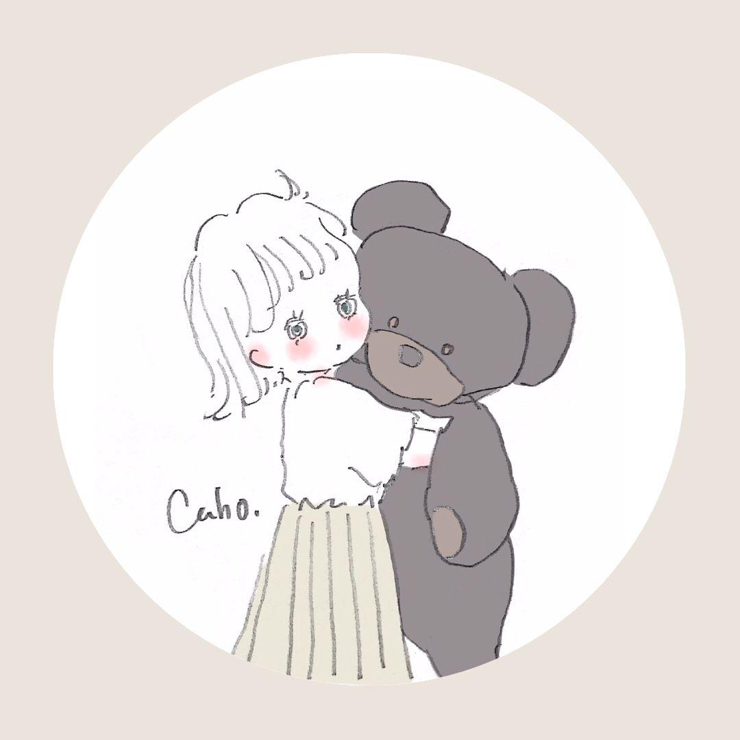 Cahoさんはinstagramを利用しています 新しい友達できた 可愛い 名前考えないとな ぬいぐるみ イラスト Caho イラスト ポエム かわいい