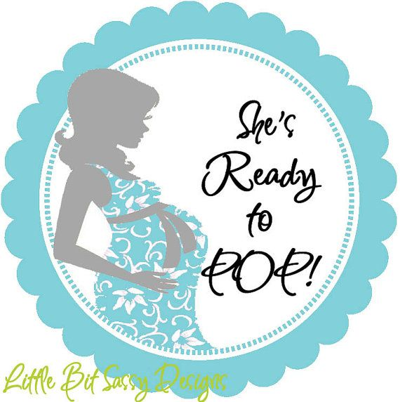 Baby Shower Mommy to Be She Is Ready To Pop Personalized Round ...