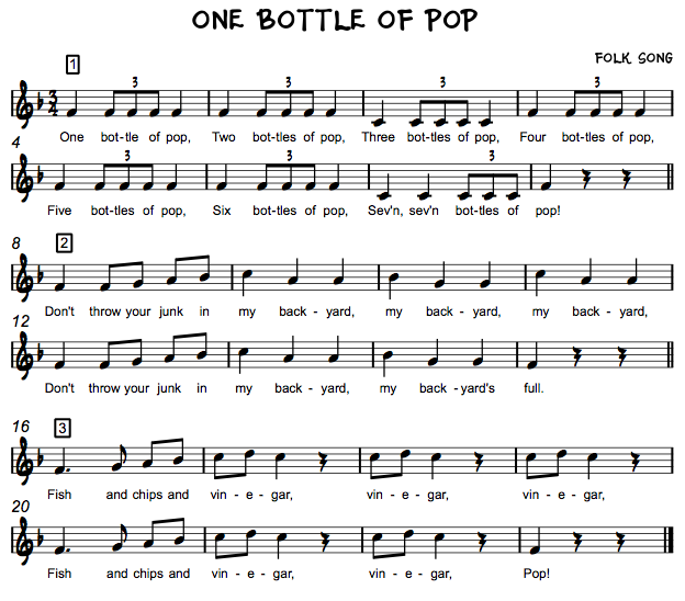 Beth's Music Notes: One Bottle of Pop grade 4 loves this one | Music