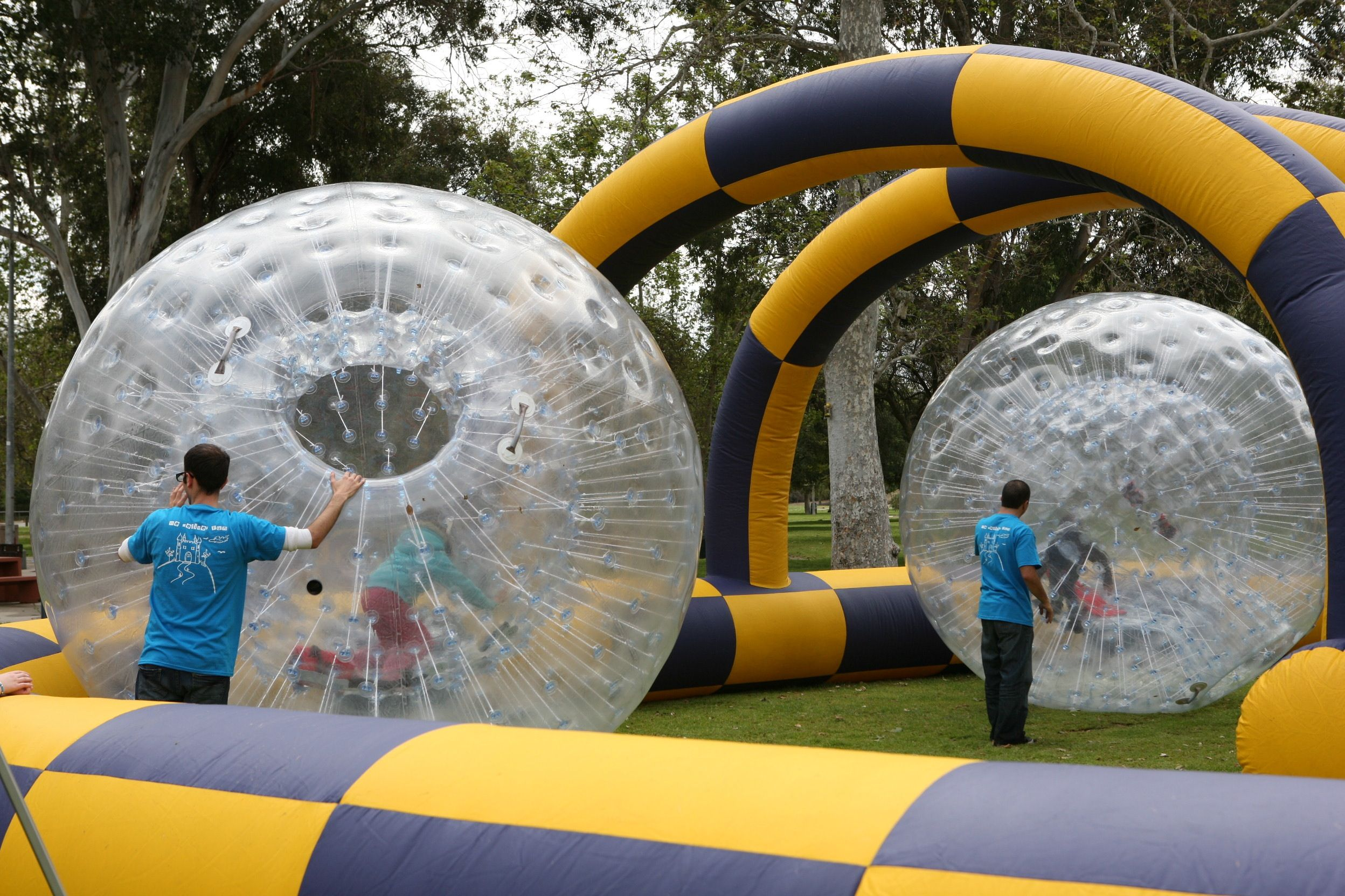Inflatable Race Track roller raceway using Zorb Balls aka