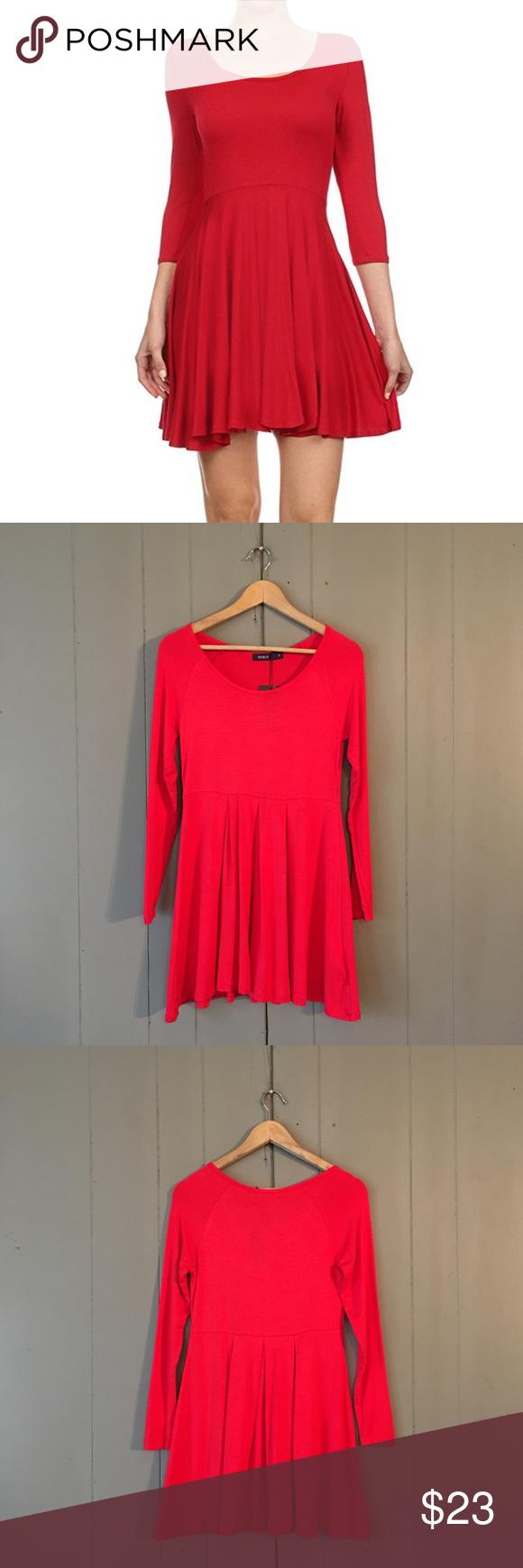 red sleeve fit u flare dress dress brands fit flare dress