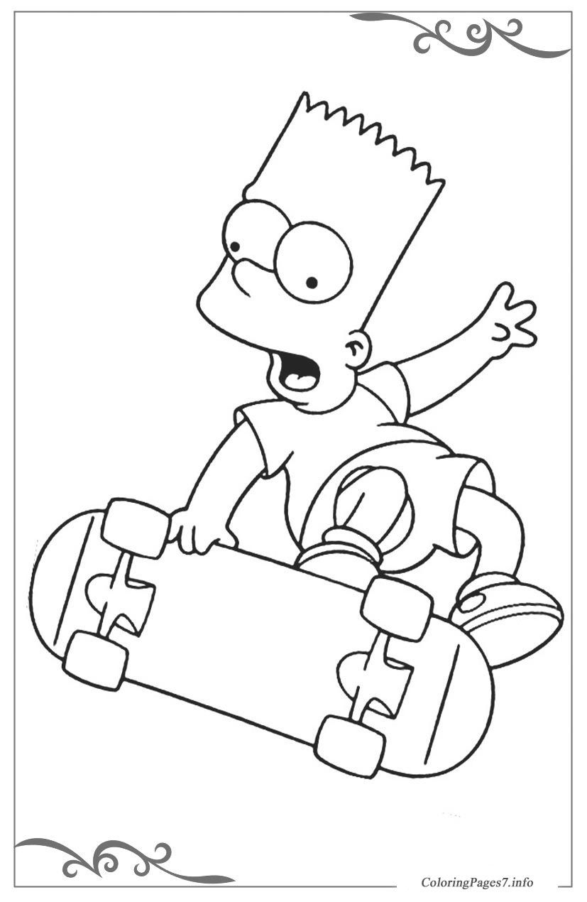 The Simpsons Free Coloring Pages for Kids | Coloring pages | Pinterest