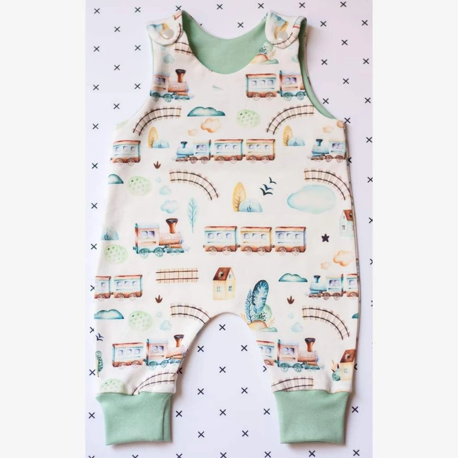 Mini Train Choo Unisex Baby Sleeveless Bodysuit