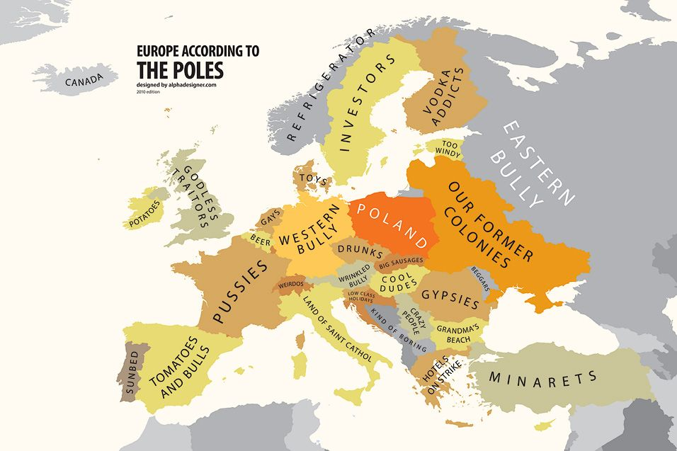 Europe According to Poland | Maps, the beauty of old maps ...