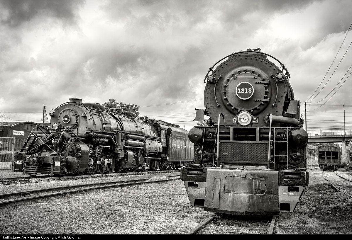 Net Photo: NW 2156 Norfolk & Western Steam 2-8-8-2 at Roanoke, Virginia by  Mitch Goldman