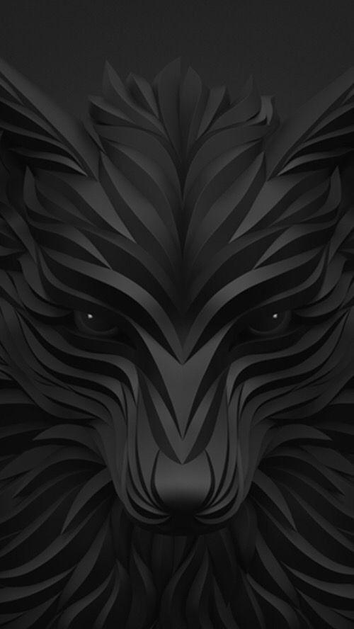 Fox Black Background Wallpaper Black Phone Wallpaper Dark Wallpaper
