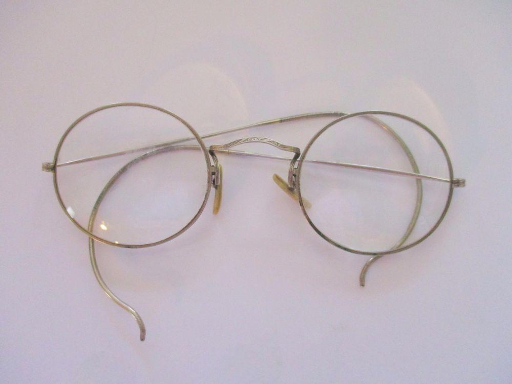 Antique SHURON Silver Circular Wire Rim Loop Eyeglass Frames #shuron ...