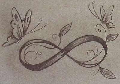 Mariposa Infinity Symbol Tattoo Butterfly Tattoo Infinity Tattoos