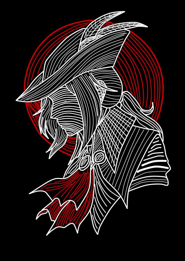 Lady Maria Lines By Noir Black Shooter Bloodborne Bloodborne Art Dark Souls Art