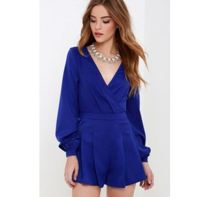 727fb2dfc71 It s Smooch-ual Royal Blue Long Sleeve Romper Love this Romper. Women s  Clothing