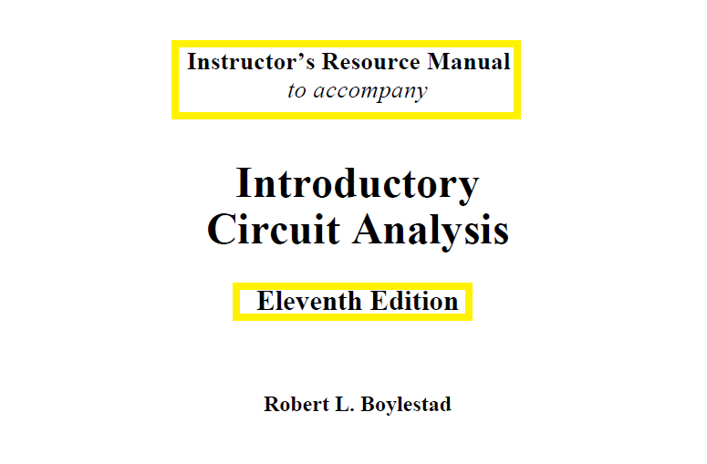 Introductory Circuit Analysis 11th Edition By Robert L Boylestad Analysis Circuit Edition