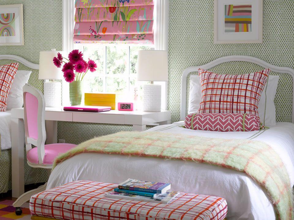 Bedroom better homes and gardens girls room katie rosenfeld interior design also rh pinterest