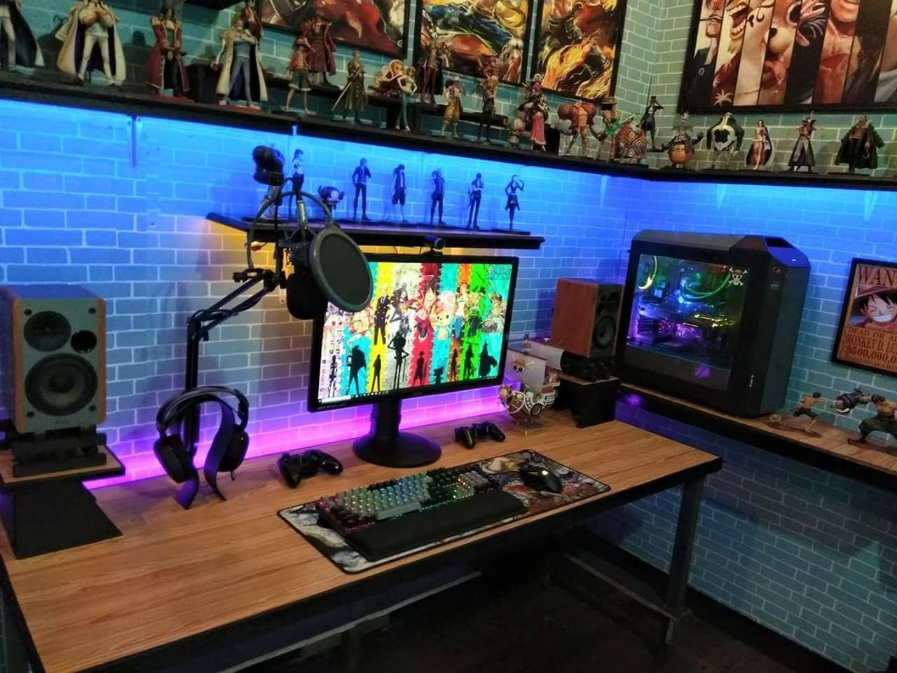 This List Of The Most Advanced Smart And Innovative Video Game Room Ideas Will Guide You To Find A Design Game Room Design Video Game Rooms Gaming Room Setup