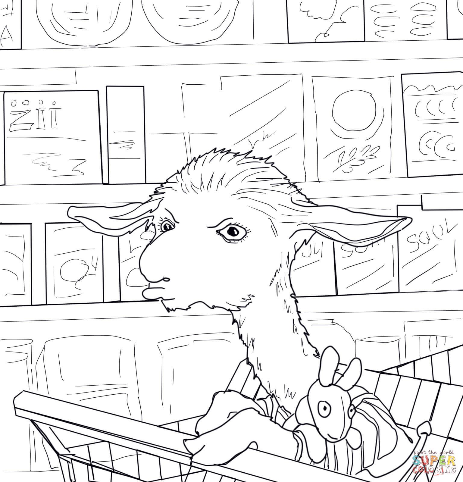 llama llama red pajama coloring page free coloring pages download