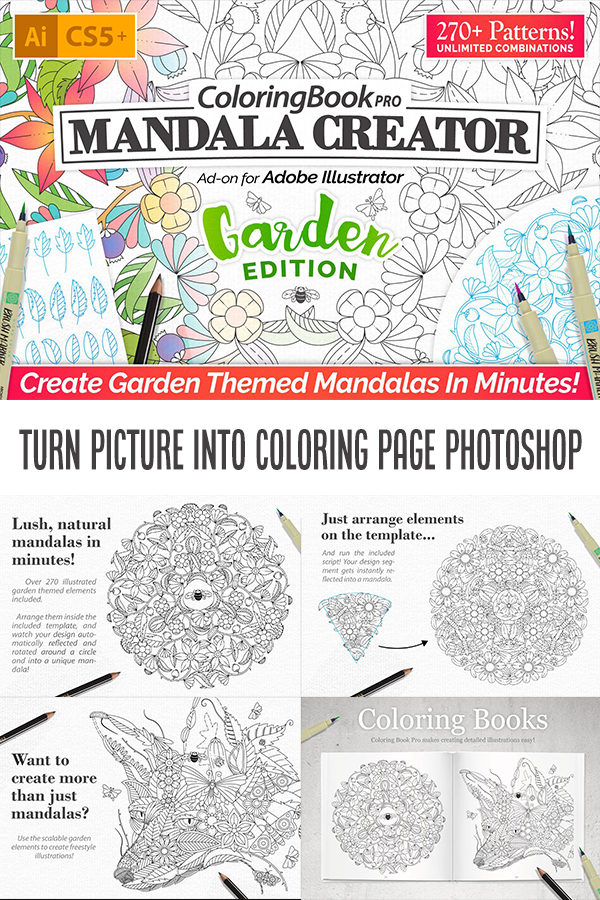 42+ Turn picture into coloring page photoshop elements free download