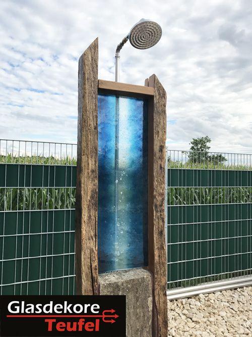 Aussendusche Glas Im Garten Pinterest Glas Und Garten