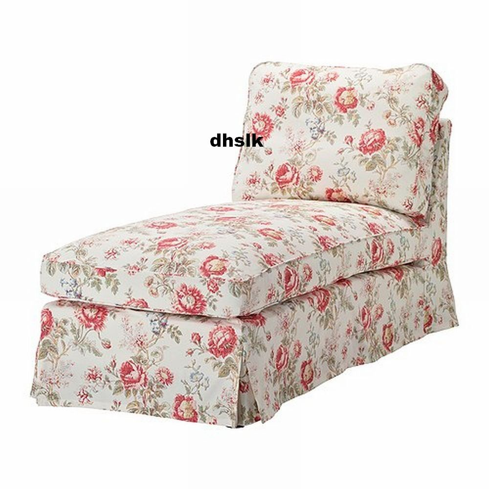 Ikea Ektorp Chaise Longue Slipcover Cover Byvik Multi Floral