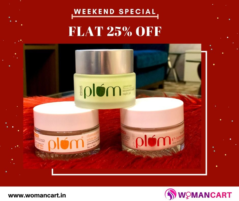 Photo of Dhamaka Offer! Get Flat 25% Off on all Plum Products by www.womancart.in🤩🥳