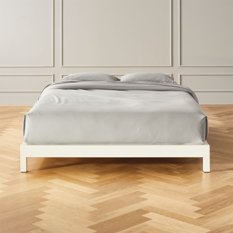 Best Simple White Metal Bed Base Queen With Images White 640 x 480