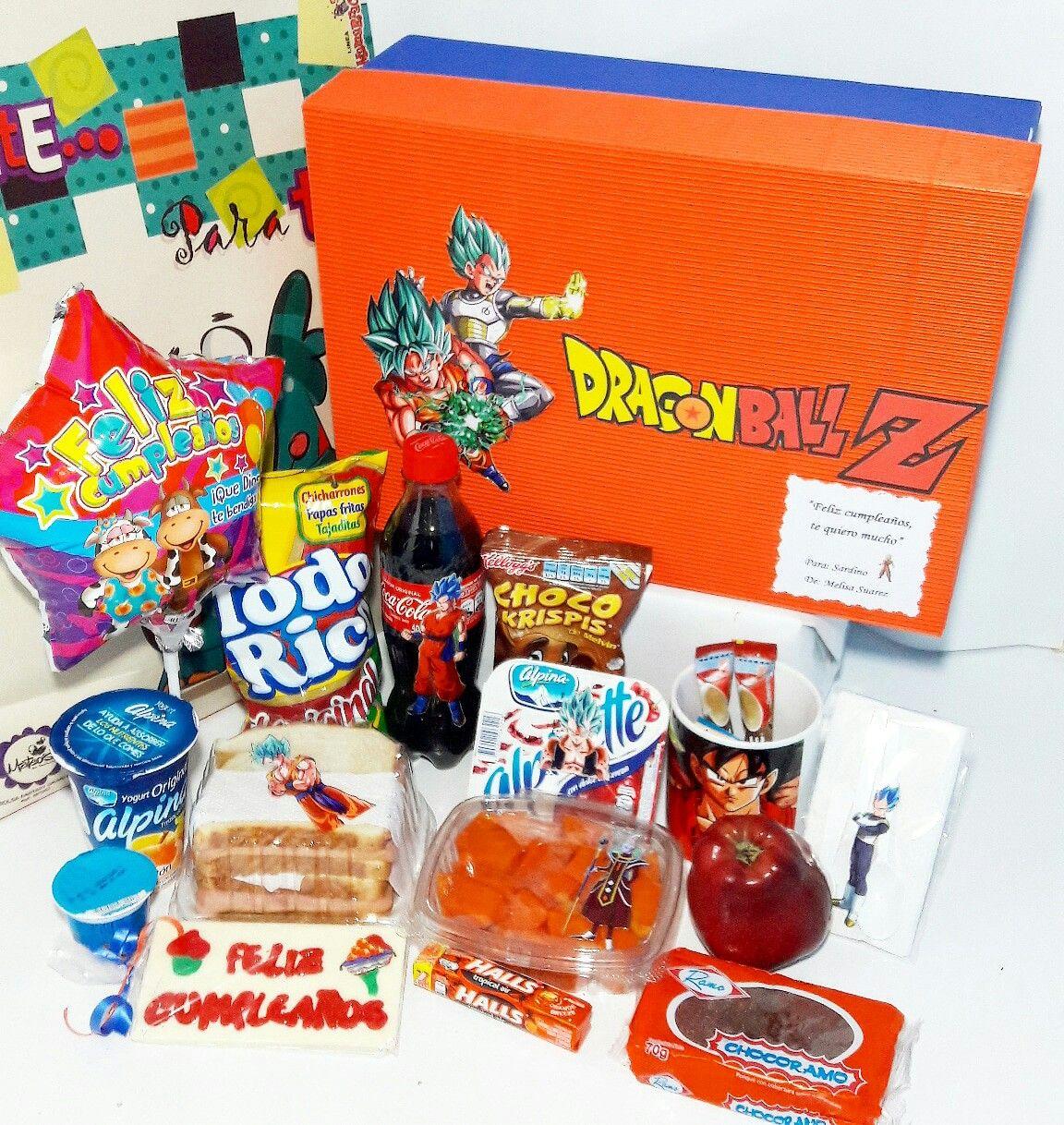 Desayuno Sorpresa Happy Cumpleanos Personalizado Dragon Ball Z