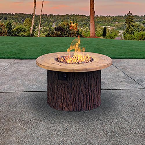 Backyard Creations 40 Auburn Propane Gas Fire Table At Menards 24 High Easy Assembly 450 Gas Fire Table Fire Table Gas Fires
