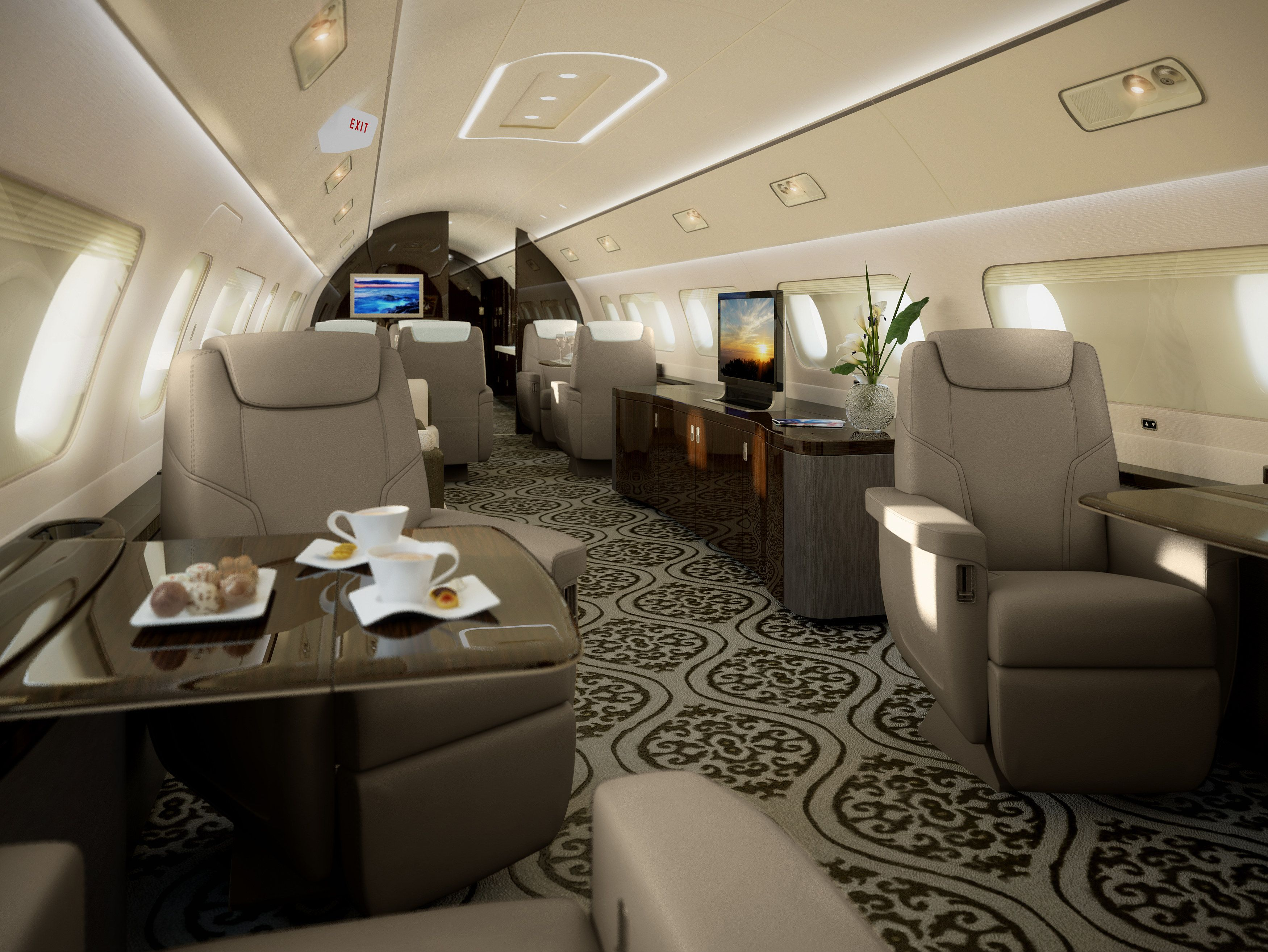 Jet Privato Lussuoso : Ever wonder what goes inside a million private jet